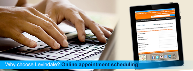 Why choose Levindale? Online appointment scheduling