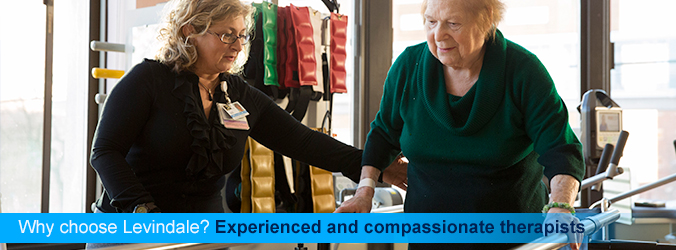 Why choose Levindale? Experienced and compassionate therapists