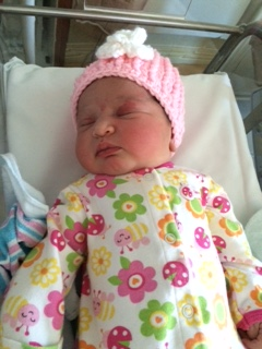 Sinai Hospital welcomed its first baby of 2015 at 12:03 a.m. - a baby girl named Lyne Charegho.