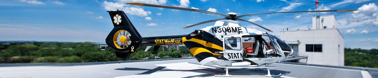 MedEvac on the roof of Sinai Hospital