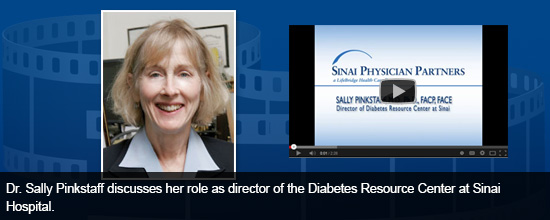 Dr. Sally Pinkstaff discusses her role as director of the Diabetes Resource Center at Sinai Hospital.
