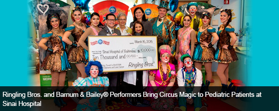 Ringling Bros. and Barnum & Bailey® Performers Bring Circus Magic to Pediatric Patients at Sinai Hospital