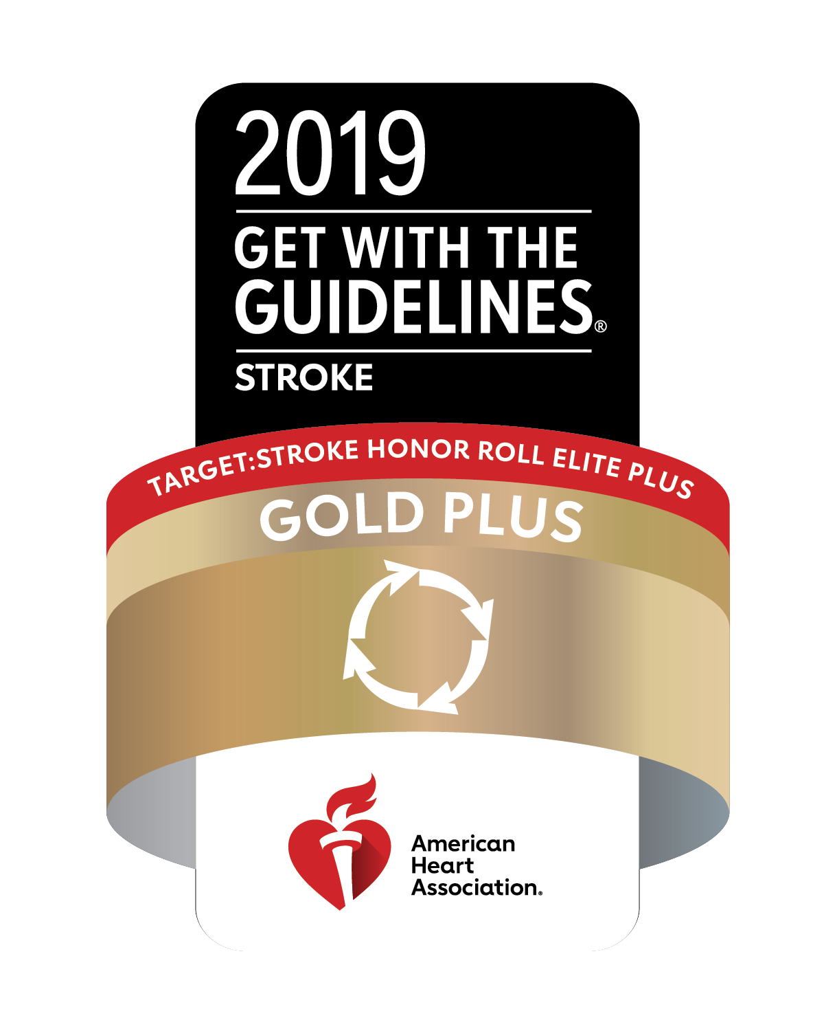 Stroke Honor Roll Elite gold plus 2019 Logo