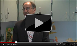 Oscar Taube, M.D., at the New Samuelson Children's Hospital