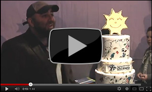 Duff Goldman at Herman & Walter Samuelson Children's Hospital Dedication Ceremony