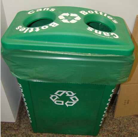 Can and Bottle Recycling Bin
