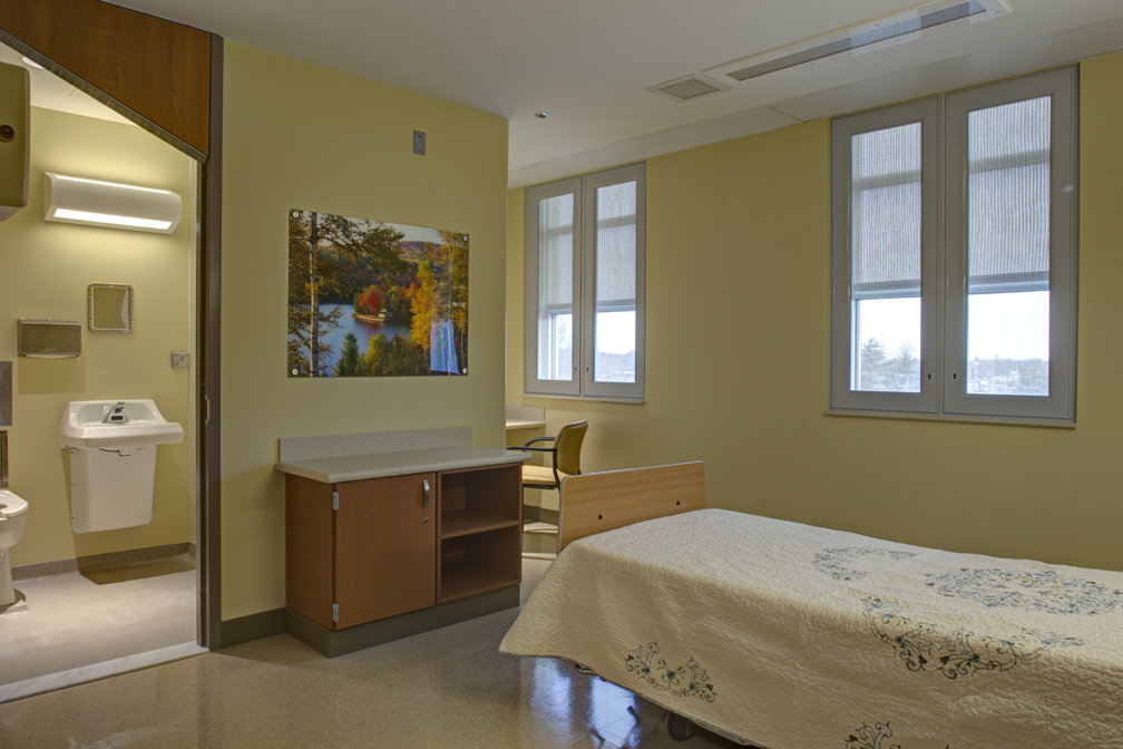 Northwest Behavioral Health Unit Patient Room