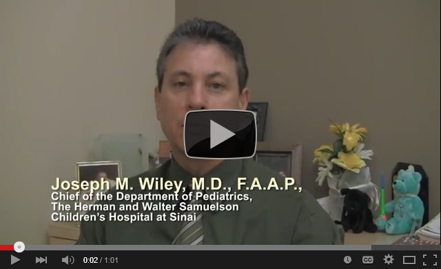Joseph Wiley, M.D., Chief of Pediatrics, Herman & Walter Samuelson Children's Hospital at Sinai