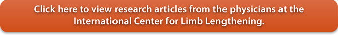 View research articles from Drs. Herzenberg, Standard, Conway, Lamm and Siddiqui at the International Center for Limb Lengthening