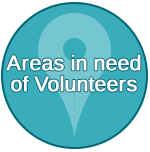 Areas in need of Volunteers