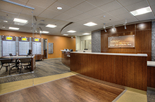 Front desk of the Krieger Eye Institute at Northwest Hospital