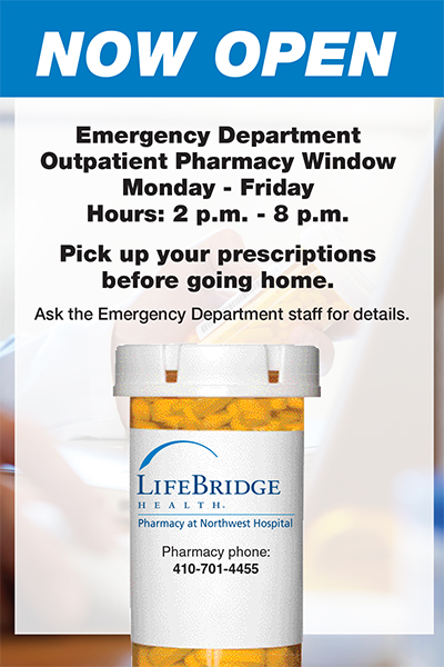 Emergency Department Outpatient Pharmacy Window