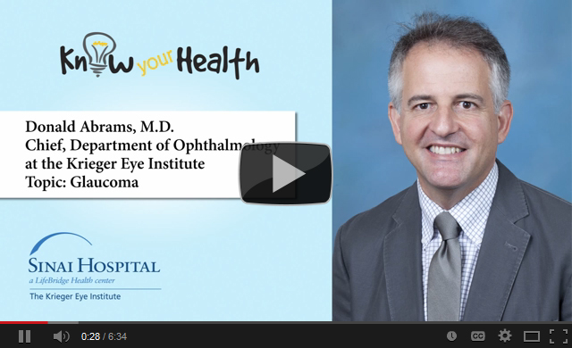 Donald Abrams, M.D., Discusses Glaucoma