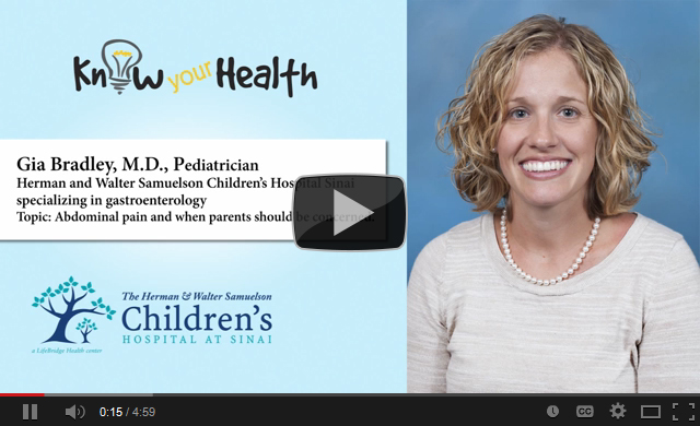 Gia M. Bradley, M.D., Discusses Abdominal Pain in Children