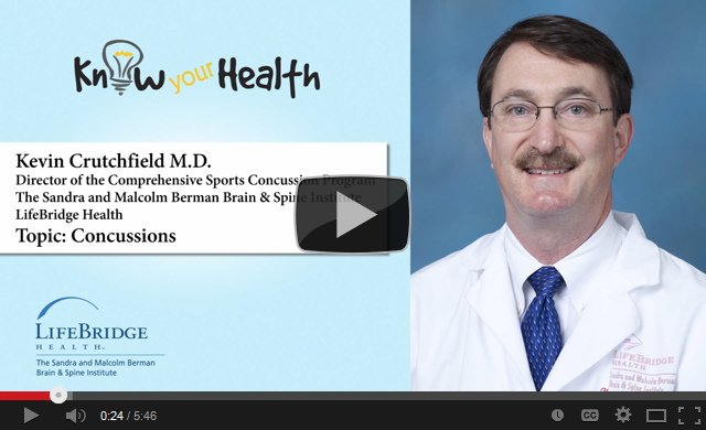 Kevin E. Crutchfield, M.D., Discusses Concussions