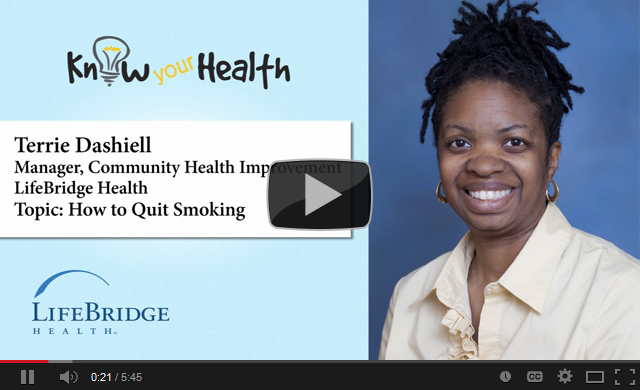 Terrie Dashiell Discusses How to Quit Smoking