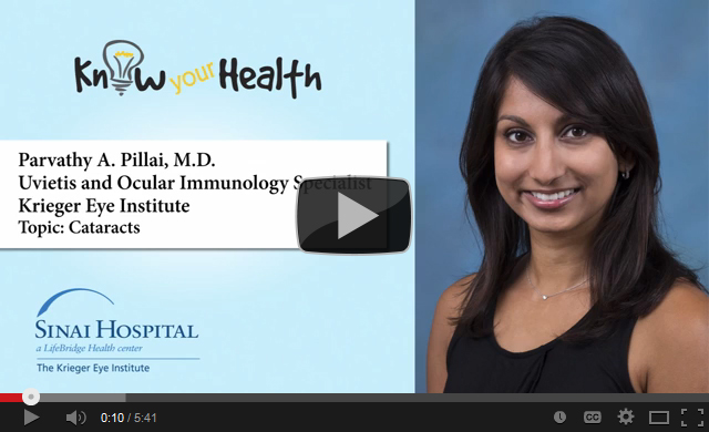 Parvathy A. Pillai, M.D., Discusses Cataracts
