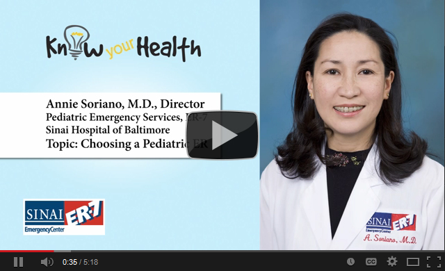 Annie Soriano, M.D., Discusses Choosing a Pediatric ER