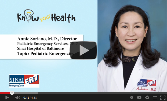 Annie Soriano, M.D., Discusses Common Pediatric Emergencies