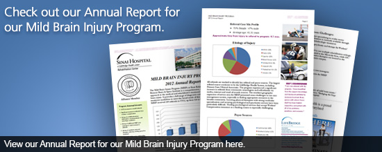 Check out our Annual Report for our Mild Brain Injury Program 
