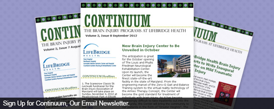Sign Up for Continuum, Our Email Newsletter