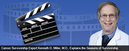 Watch Cancer Survivorship Expert Kenneth D. Miller, M.D., Explain the Journey of a Cancer Survivor: