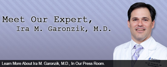 Learn More About Ira M. Garonzik, M.D., In Our Press Room