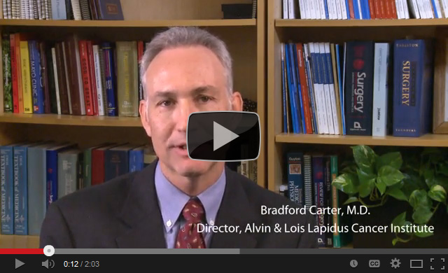 Dr. Bradford Carter Discusses the Alvin & Lois Lapidus Cancer Institute