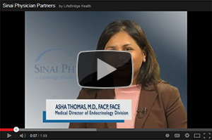 Asha Thomas, M.D, Medical Director of the Division of Endocrinology and Metabolism