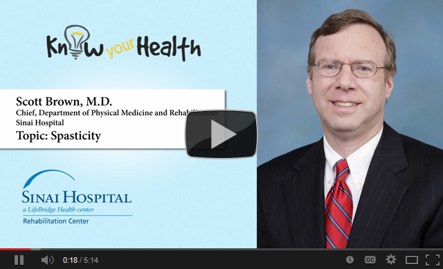 Dr. Brown discusses spasticity