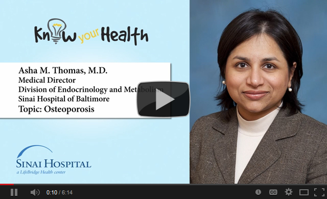 Asha M. Thomas, M.D., Discusses Osteoporosis
