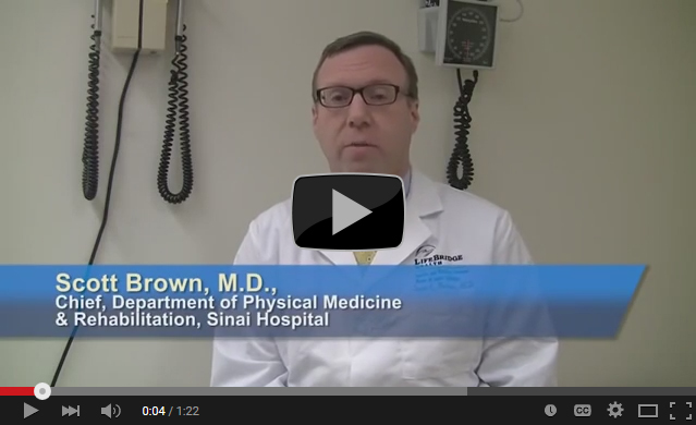 Scott Brown, M D , Chief, Department of Physical Medicine & Rehab, Sinai Hospital