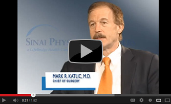 Dr. Mark Katlic, Director of the Sinai Center for Geriatric Surgery, discusses the purpose of the center.