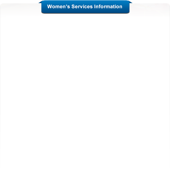 Women's Services Information