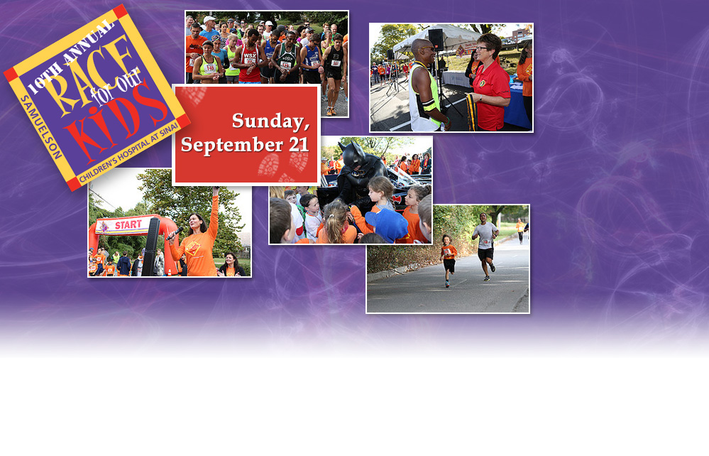 Join us for the 10th Annual Race for Our Kids on Sunday, September 21