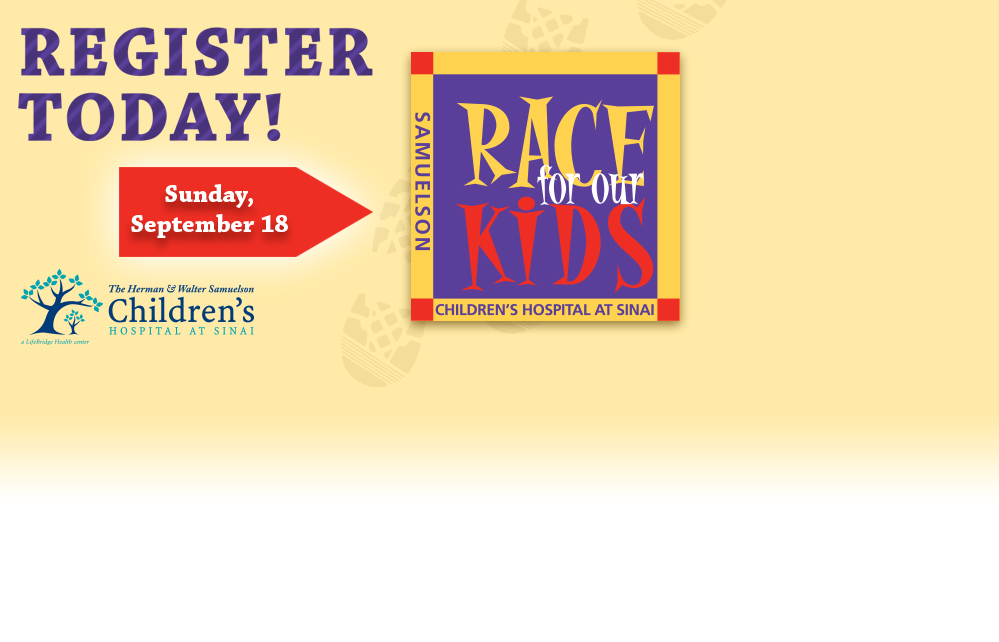 Register today for  Race for Our Kids on Sunday, September 18