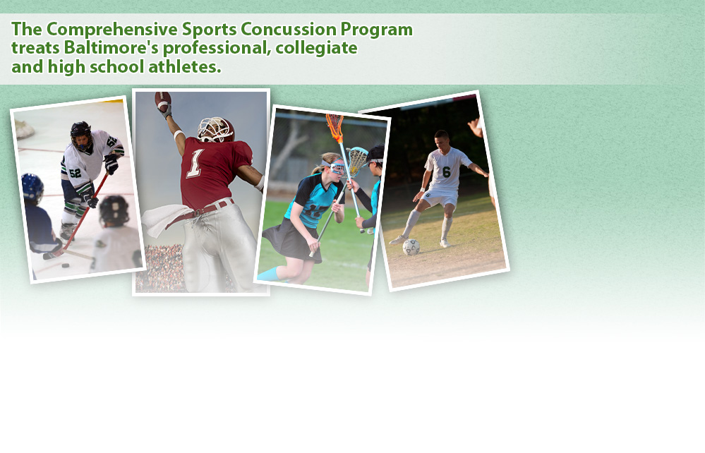 The Comprehensive Sports Concussion Program treats Baltimore's  professional, collegiate, and high school athletes.