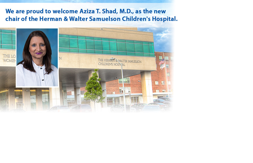 Welcome Aziza T. Shad, M.D.