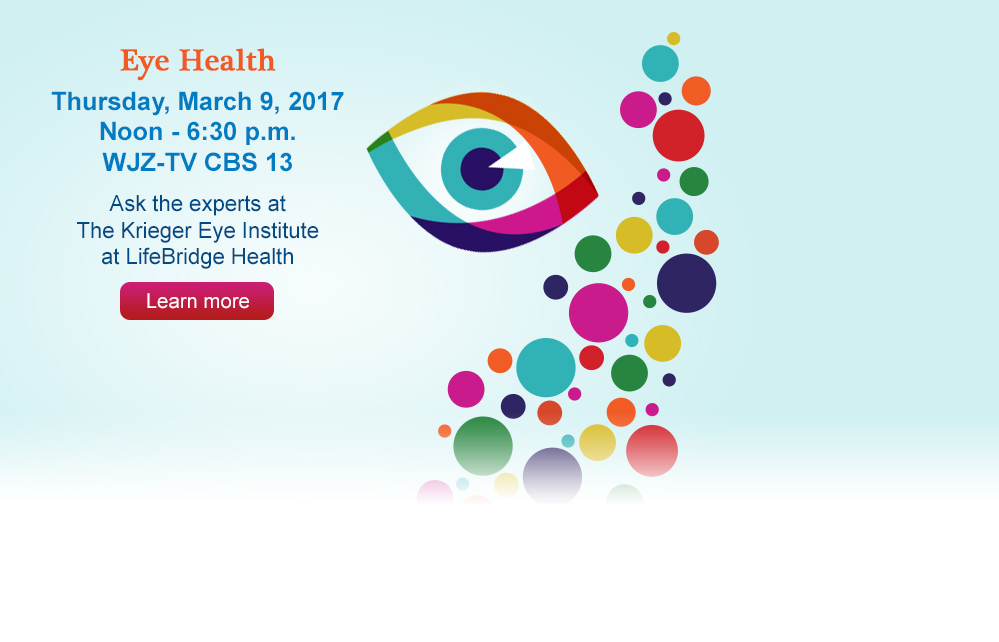 Join us on Thursday, March 9 from noon to 6:30 p.m. for a special Eye Health edition of Ask the Experts.