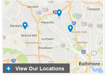 LifeBridge Health Department of Radiology Map