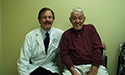 Former 81-year-old patient Jack Cowart with Dr. Mark Katlic.