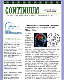 Continuum - The Brain Injury Programs at LifeBridge Health e-Newsletter