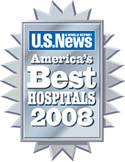 U.S. News & World Reports, America's Best Hospitals 2008