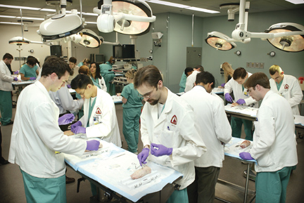 IMage of residents training for the operating room
