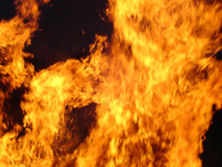 Image of a burning fire