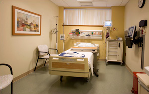 Schapiro Cardiac Diagnostic Center Patient Room