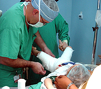 Dr Standard operates on Dominican child
