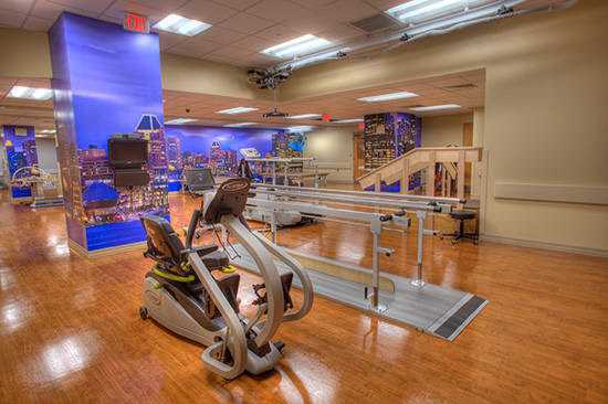 Function Junction, the state-of-the-art gym, is brimming with advanced technology to assist patients in their daily therapy.