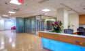 Spacious inpatient lobby area which is on the 3rd floor of the new hospital