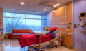 Lots of natural light and views to the outside in each patient room